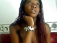 Huge Tit Ebony Babe Teases On Webcam