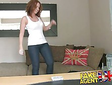 Fakeagentuk Attractive Redhead Gets Surprise Creampie