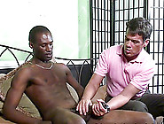 Handsome Gay Stud Jerking Off His Black Boyfriend's Big Cock Har