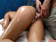 Abby Oiled Massaged With Taste Of Sperm
