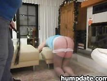 Cruel Femdom Wife Spanking Hubbys Ass Hard