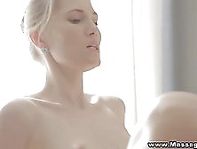 Blonde Teen Got Soaking Wet While Having A Relaxing Massage,  So