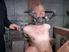 Long Hair Blonde Bending Over When Nicely Tortured In Bdsm