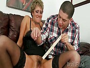 Combing Milf Pubic Hair And Fucking Her