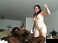 White Juicy Slut Rides On A Big Black Dick Of A Tall Boy