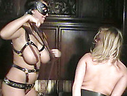 Kora Kryk And Malina May Play With A Strapon In Lesbian Bondage