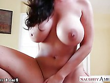 Big Titted Brunette,  Sophie Dee Is Wearing Red Lingerie And Gett