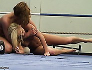 Two Hot Lesbian Babes Try To Wrestle Each Other Into Submission
