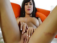Her Shaved Pussy Looks Perfect As The Solo Girl Masturbates