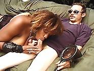 Busty Black Momma Milking Huge White Cock Down Last Drop