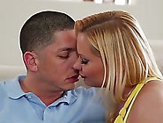 Voluptuous Blonde Woman,  Katja Kassin Gave A Nice Blowjob To A Y