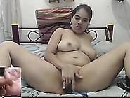 Horny Latina Teen Meegan Spreads Her Pussy And Cums On Cam.