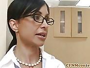 Femdom Nurses Cockriding In Cfnm Threesome