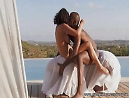 Romantic Ebony Couple Making Love