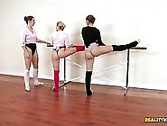 Flexible Dancers Are Often Doing Stretching Together And Giving