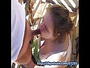 Wife Deepthroat Husband Dick Outside In Public & Swallow Cum