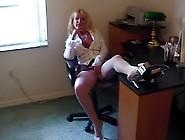 Hot Busty Blonde Granny Julia