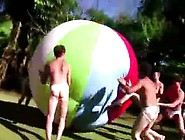 Gay Fraternity College Teens Party Outdoors