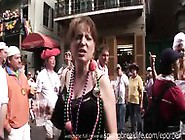 Hotel Room Referee And Mardi Gras Flashers. Mp4