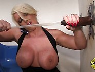 Alura Jenson - Gloryhole Sexy Masturbation