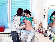 Anne Angel And Valery Von Strip And Play Lesbian Games