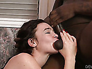 Slender Brunette Gives Deepthroat Blowjob And Gets Her Pussy Lic