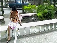 Amputee Asian One Crutch