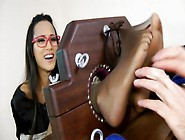 Ayla Sky - Hot Asian Secretary Foot Tickle