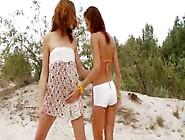 Russian Teenies Toying On The Beach