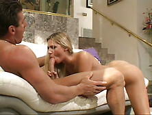 Long Haired Auburn Filth Ashley Long Blows And Rides Big Cock Wi