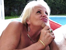 Horny Blonde Gilf Is Eager To Get Nailed With A Young Python