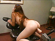Tantalizing Cowgirl Rides A Sex Machine Hardcore In Solo Masturb