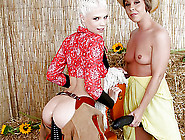 Nasty Cowgirls Julie Night And Jayda Diamonde Ass Ripped By Big