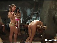 Mistress Using Her Smaids As A Sex Slaves