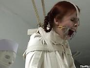 Straitjacket Caning And Masturbation Punishment