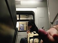 Cum Close To Girl On Train