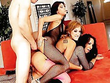 Amy Brooke & Friends Have A 3 Chick 1 Dick Fuckathon