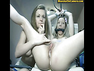 Two Blonde Lesbian Chicks Playing Bondage Games