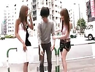 Lucky Oriental Guy Has A Group Of Irresistible Girls Sharin