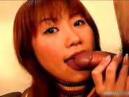 Horny Ginger Asian Doll Sucking Onto Some