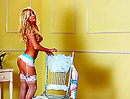 Blonde Kelly Ryan Poses In Sexy Lingerie In Playboy Video