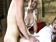 Sexy Cfnm Girls Fucking The Stable Boy