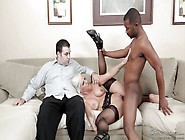 White Wife Fucked By Black Stud In Front Of Her Husband @ Mom&am