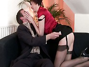 Whorish British Lady Lara Latex Seduces A Man For A Tough Doggy