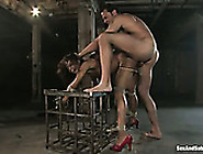 Blind Folded Ebony Whore Marie Luv Gets Her Muff Rammed In Bdsm