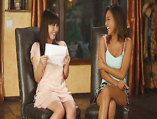 Amateur Asian Cutie Is Being Interviewed As A Part Of Her Introd