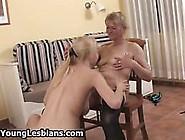 Big Tits Teen Lesbian Loves Spanking