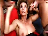 Mature German Bitch Attends A Spunky Sperm Party And Gets Full
