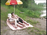 Russian Mature Mom And Her Boy On The Nature! Amateur!