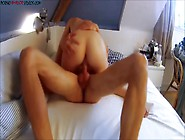 Fiery Wife Having Orgasm Shaking The Cock Without Condom